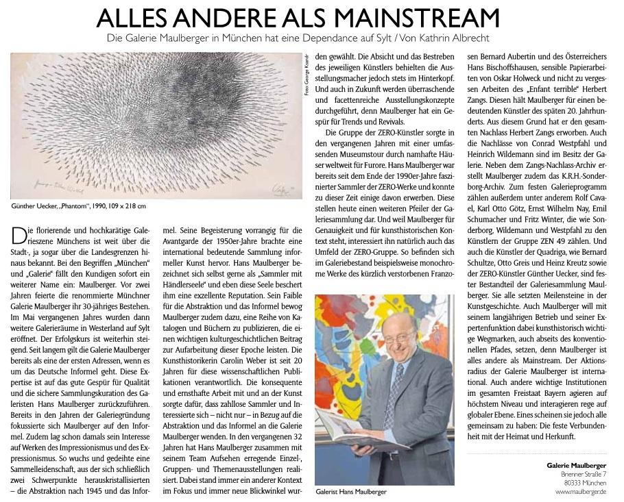 Presse Galerie Maulberger Zeitkunst 2016