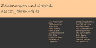 Einladungskarte Ausstellung Zeichnungen und Graphik des 20. Jahrhunderts 2006 Galerie Maulberger