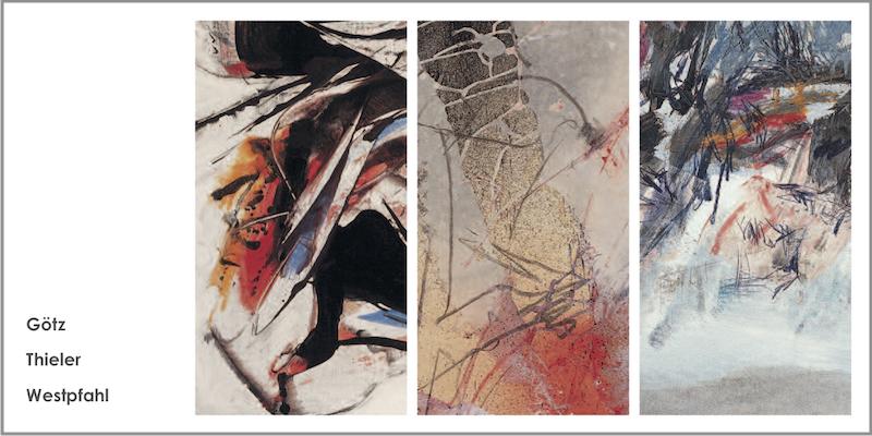 Einladungskarte Ausstellung Karl Otto Goetz – Fred Thieler – Conrad Westpfahl 2007 Galerie Maulberger