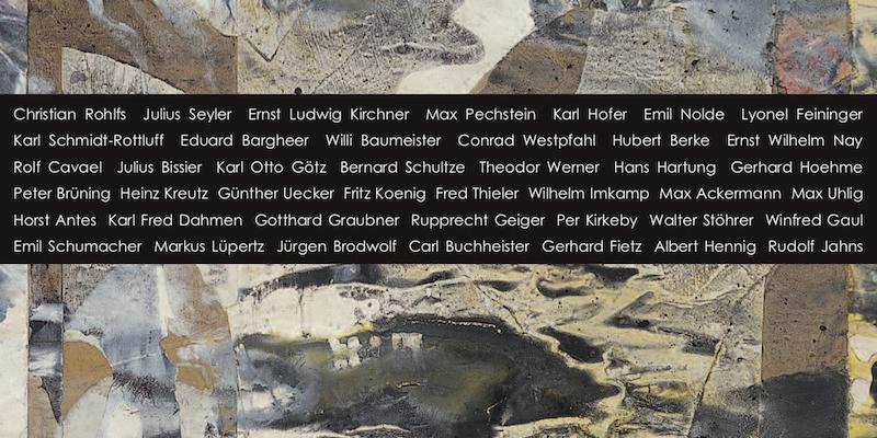 Einladungskarte Ausstellung Papierstationen des 20. Jahrhunderts 2007 Galerie Maulberger