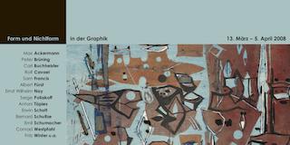 Einladungskarte Ausstellung Form und Nichtform in der Graphik 2008 Galerie Maulberger
