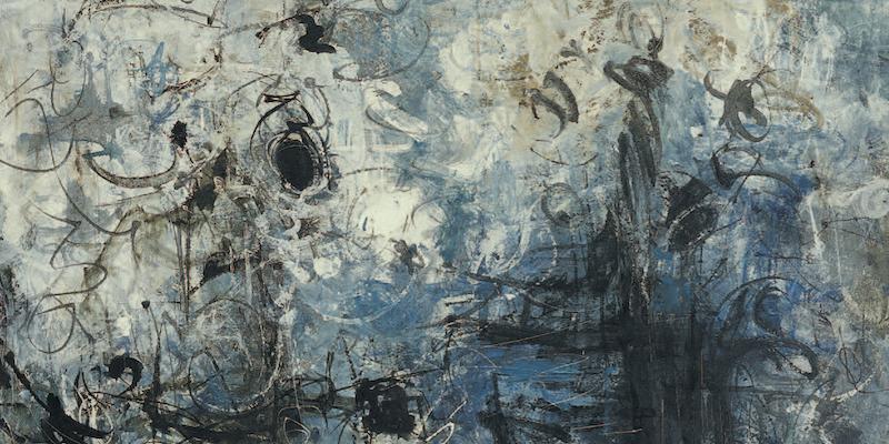 Einladungskarte Ausstellung Rolf Cavael – Abstraktion als lebendiger Kosmos 2008 Galerie Maulberger