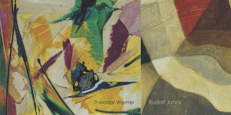Einladungskarte Ausstellung Theodor Werner Rudolf Jahns 2008 Galerie Maulberger