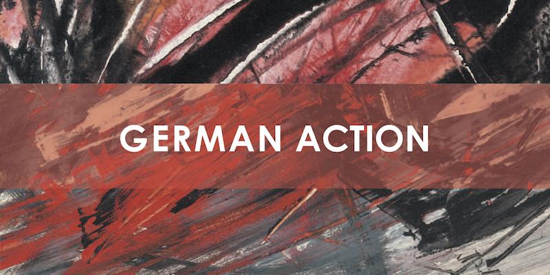 Einladungskarte Ausstellung German Action 2009 Galerie Maulberger