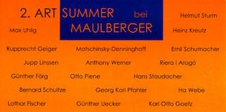 Einladungskarte Ausstellung 2. ART SUMMER 1999 Galerie Maulberger