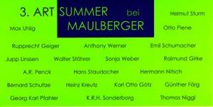 Einladungskarte Ausstellung 3. ART SUMMER 2000 Galerie Maulberger