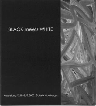 Einladungskarte Ausstellung BLACK meets WHITE 2000 Galerie Maulberger