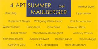 Einladungskarte Ausstellung 4. ART SUMMER 2001 Galerie Maulberger