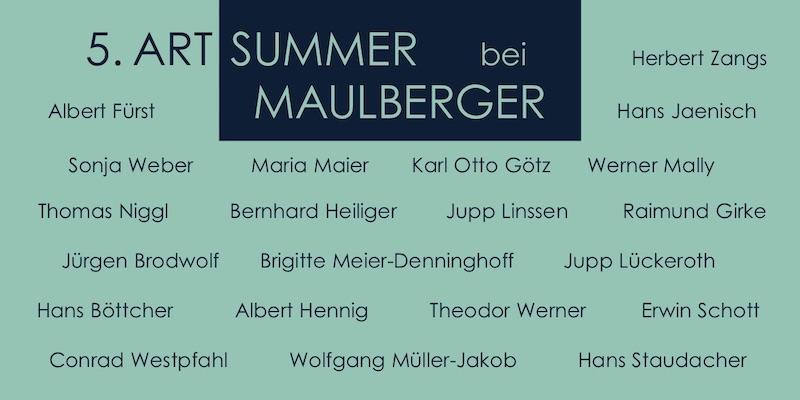 Einladungskarte Ausstellung 5. ART SUMMER 2002 Galerie Maulberger