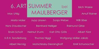 Einladungskarte Ausstellung 6. ART SUMMER 2003 Galerie Maulberger