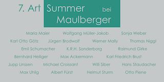 Einladungskarte Ausstellung 7. ART SUMMER 2004 Galerie Maulberger
