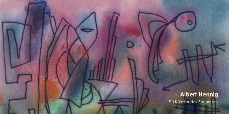 Einladungskarte Ausstellung Albert Hennig – Ein Künstler des Bauhauses 2004 Galerie Maulberger