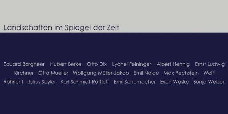 Einladungskarte Ausstellung Landschaften im Spiegel der Zeit 2004 Galerie Maulberger