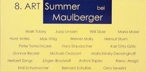 Einladungskarte Ausstellung 8. ART SUMMER 2005 Galerie Maulberger