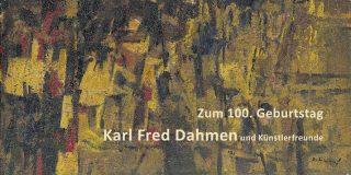 Einladungskarte Ausstellung Karl Fred Dahmen 2017 Galerie Maulberger