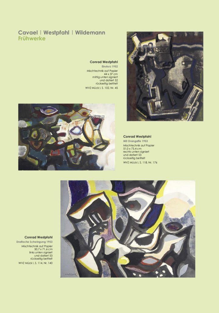 Einladungskarte Ausstellung Cavael | Westpfahl | Wildemann 2018 Galerie Maulberger 02
