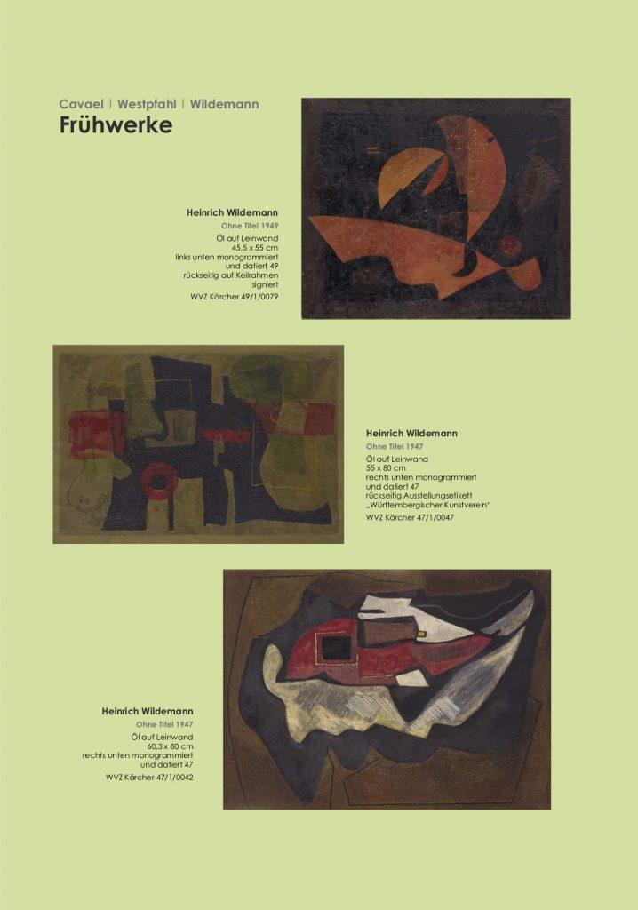 Einladungskarte Ausstellung Cavael | Westpfahl | Wildemann 2018 Galerie Maulberger 04