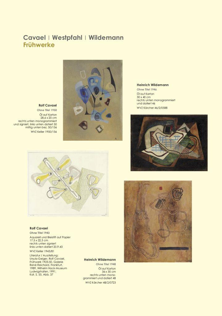 Einladungskarte Ausstellung Cavael | Westpfahl | Wildemann 2018 Galerie Maulberger 05
