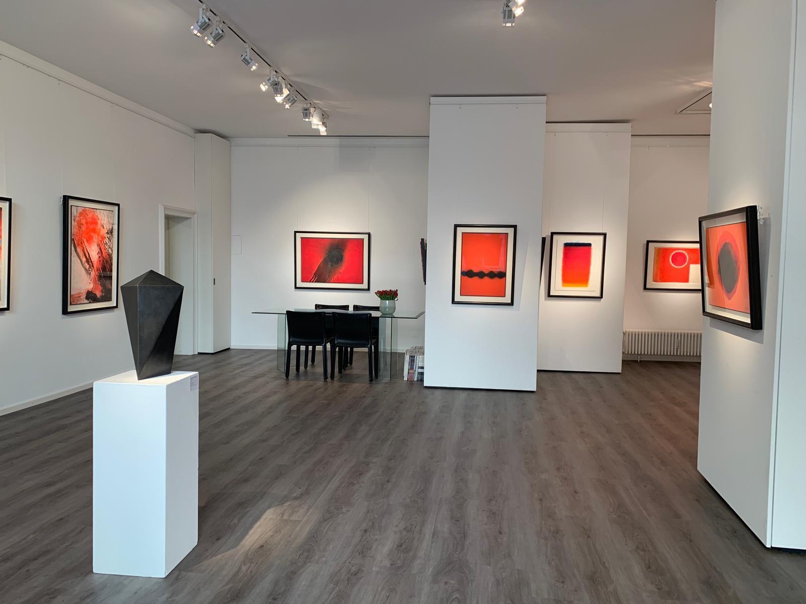 Ausstellung ROT – Energie - Kraftfeld - Dynamik 2019 Galerie Maulberger 01