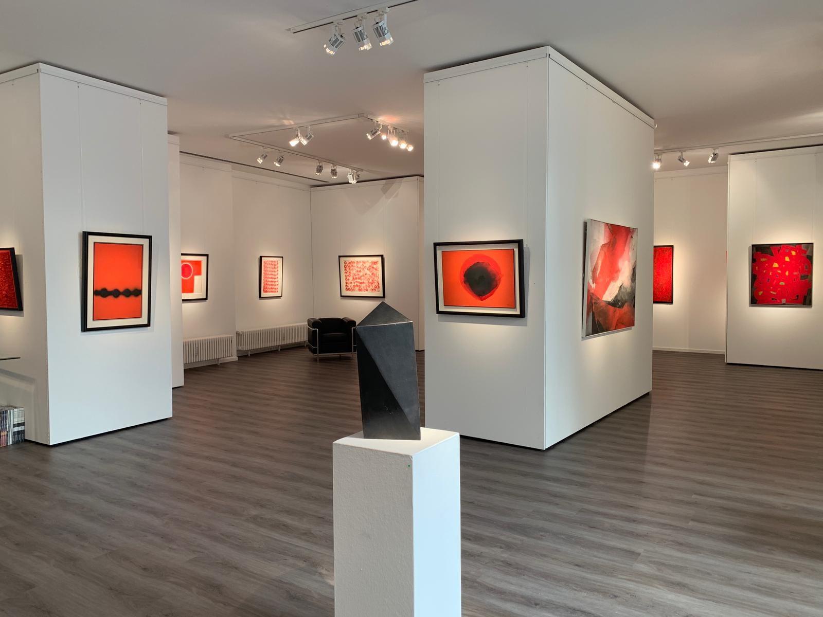 Ausstellung ROT – Energie - Kraftfeld - Dynamik 2019 Galerie Maulberger 02