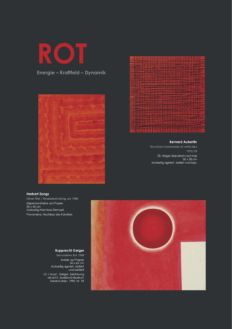 Einladungskarte Ausstellung ROT – Energie - Kraftfeld - Dynamik 2019 Galerie Maulberger 03