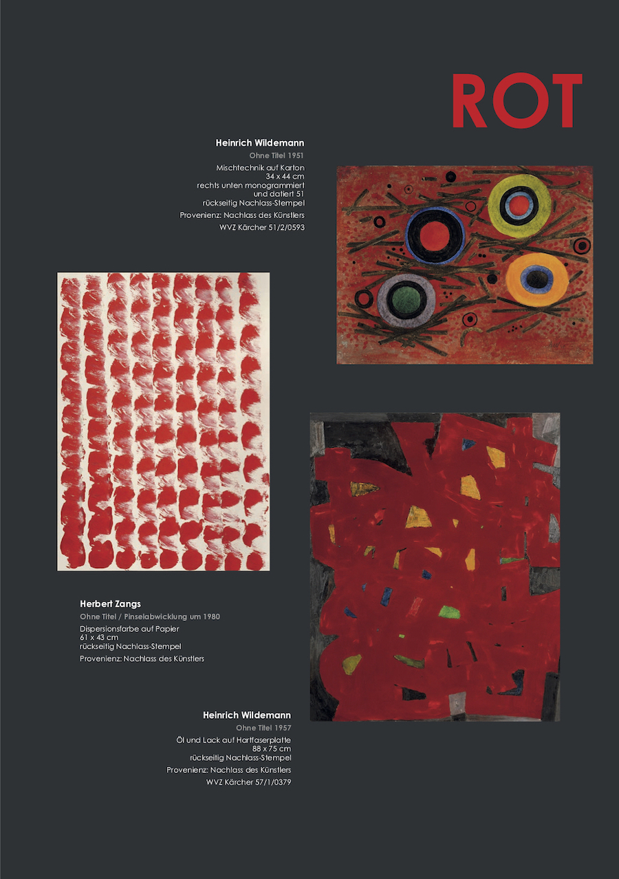 Einladungskarte Ausstellung ROT – Energie - Kraftfeld - Dynamik 2019 Galerie Maulberger 05