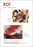 Einladungskarte Ausstellung ROT – Energie - Kraftfeld - Dynamik 2019 Galerie Maulberger