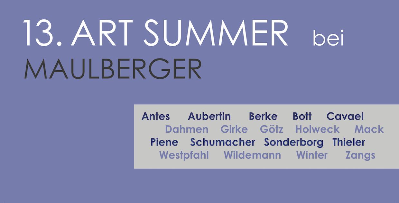 Einladungskarte Ausstellung 13. ART SUMMER 2019 Galerie Maulberger