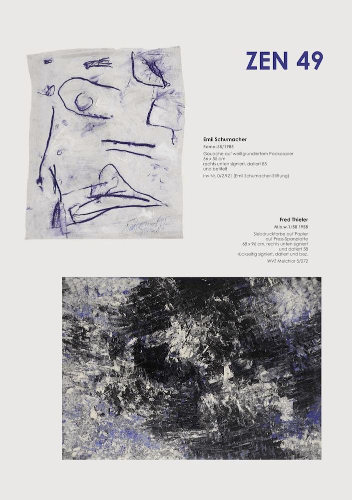 Einladungskarte Ausstellung ZEN 49 2019 Galerie Maulberger 02