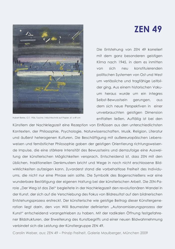 Einladungskarte Ausstellung ZEN 49 2019 Galerie Maulberger 03