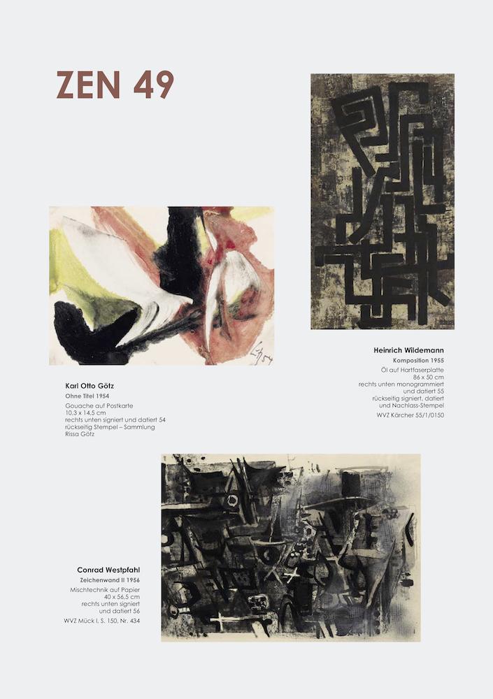 Einladungskarte Ausstellung ZEN 49 2019 Galerie Maulberger 04