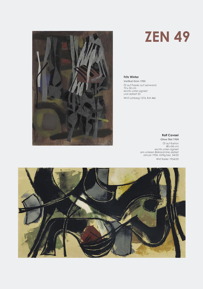 Einladungskarte Ausstellung ZEN 49 2019 Galerie Maulberger 05