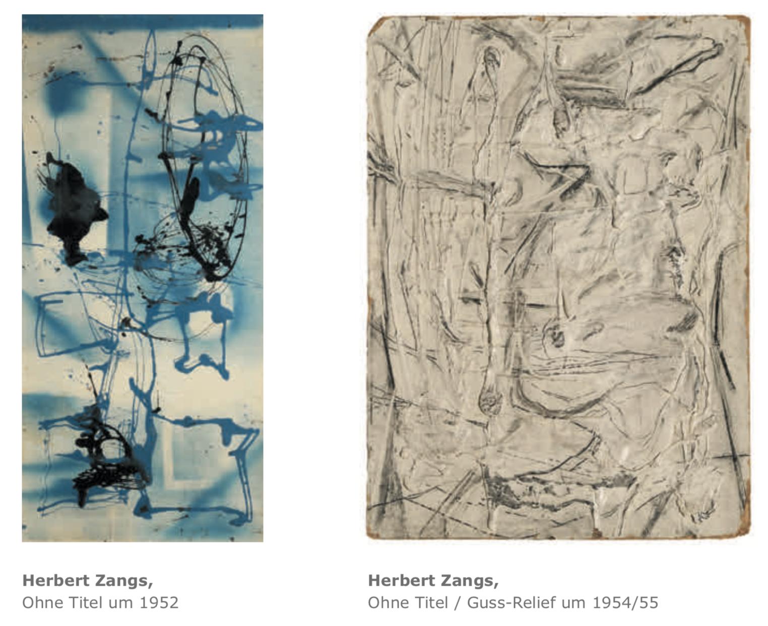 Galerie Maulberger Herbert Zangs Publikation Zeitzeugen Seite 119