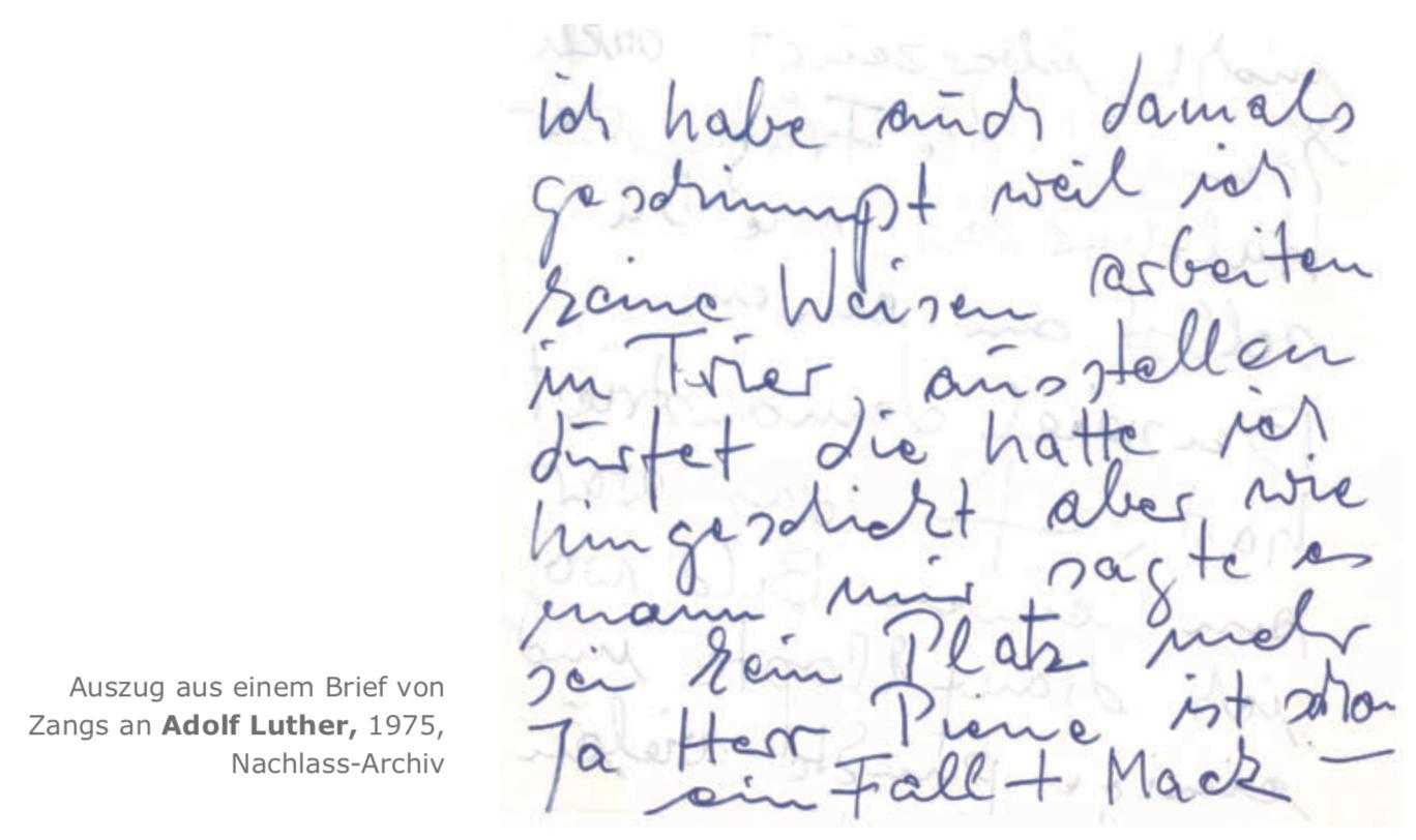 Galerie Maulberger Herbert Zangs Publikation Zeitzeugen Seite 132