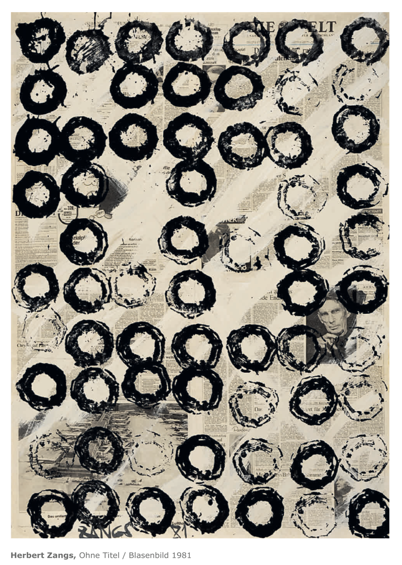 Galerie Maulberger Herbert Zangs Publikation Zeitzeugen Seite 142