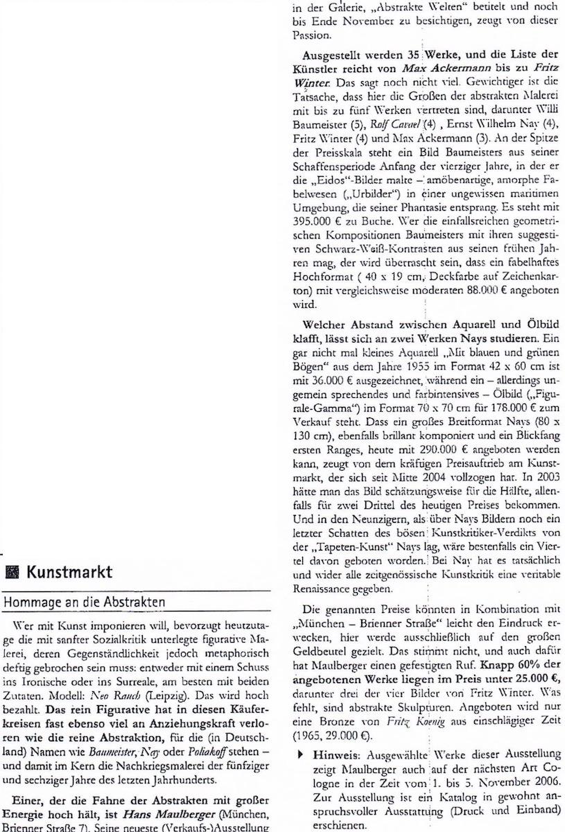 Presse Galerie Maulberger Fuchsbriefe 2006