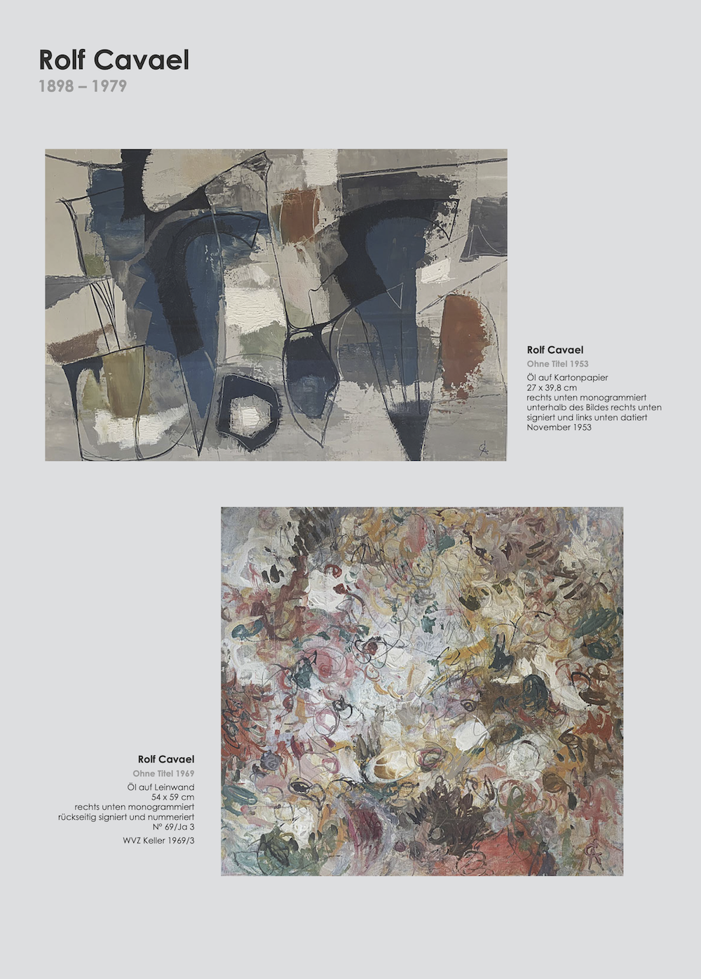 Einladungskarte Ausstellung Cavael Sonderborg Thieler 2020 Galerie Maulberger 02