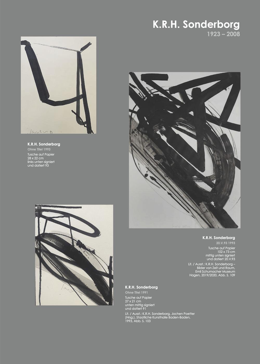 Einladungskarte Ausstellung Cavael Sonderborg Thieler 2020 Galerie Maulberger 03