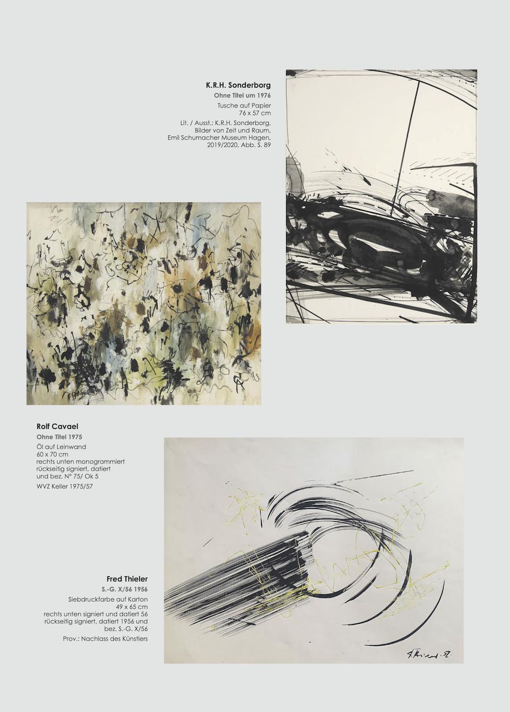 Einladungskarte Ausstellung Cavael Sonderborg Thieler 2020 Galerie Maulberger 05