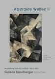 Einladungskarte Ausstellung Abstrakte Welten II 2020/2021 Galerie Maulberger