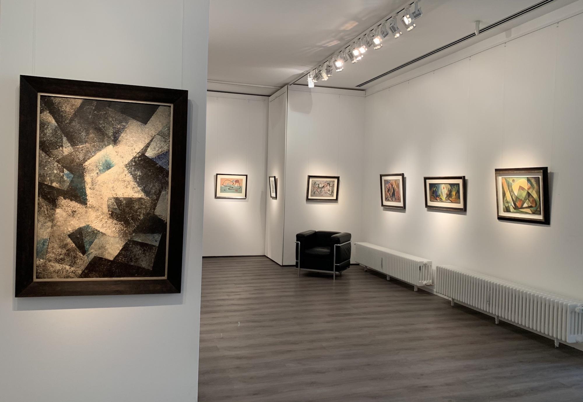 Ausstellung Abstrakte Welten II 2020 Galerie Maulberger 01