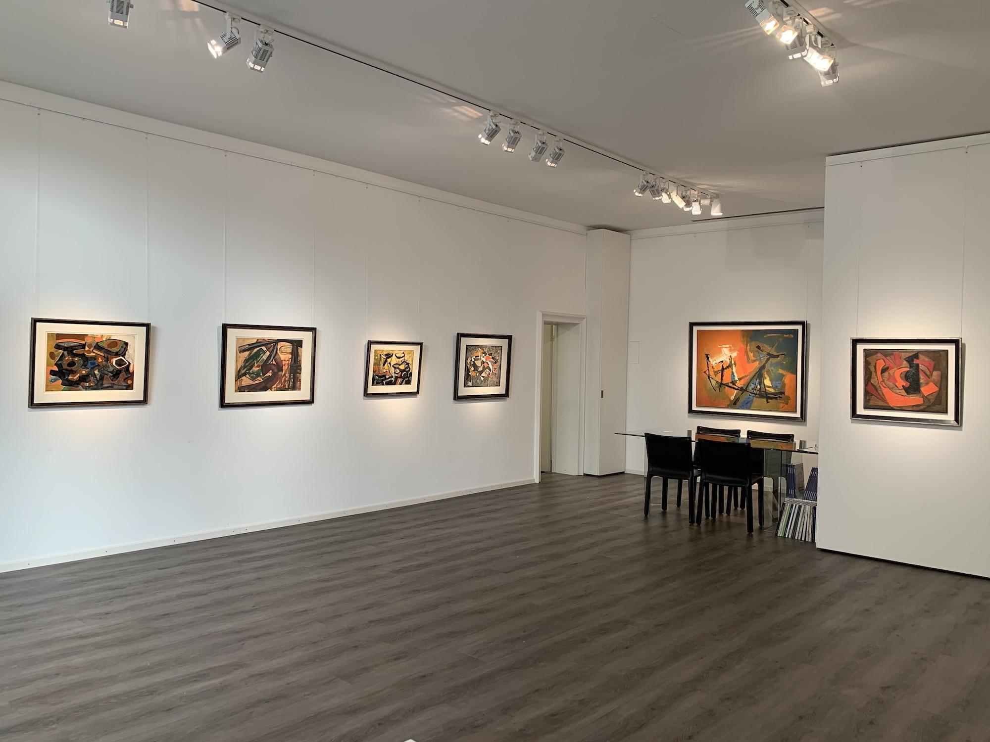 Ausstellung Abstrakte Welten II 2020 Galerie Maulberger 02