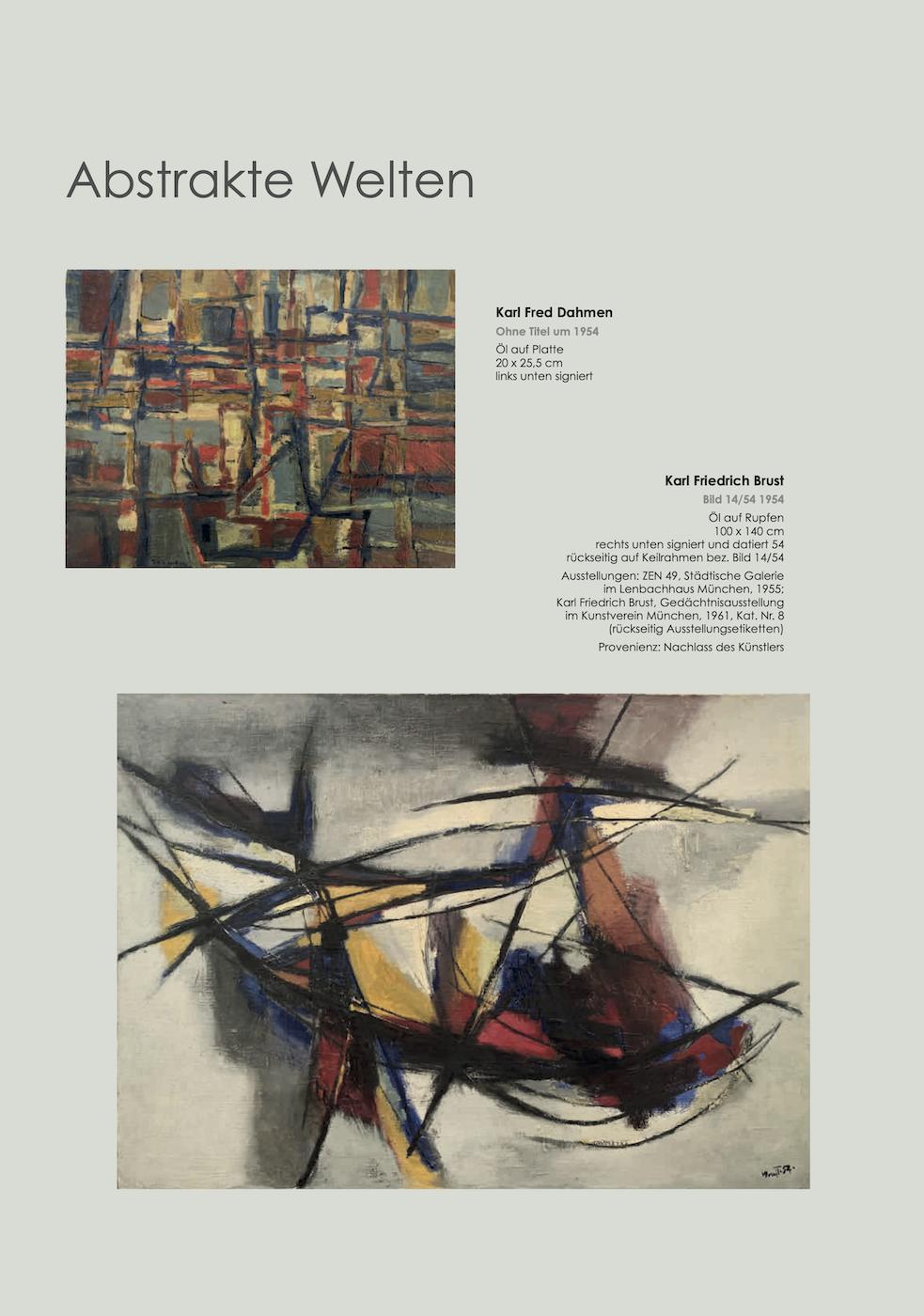 Einladungskarte Ausstellung Abstrakte Welten II 2020/2021 Galerie Maulberger 02