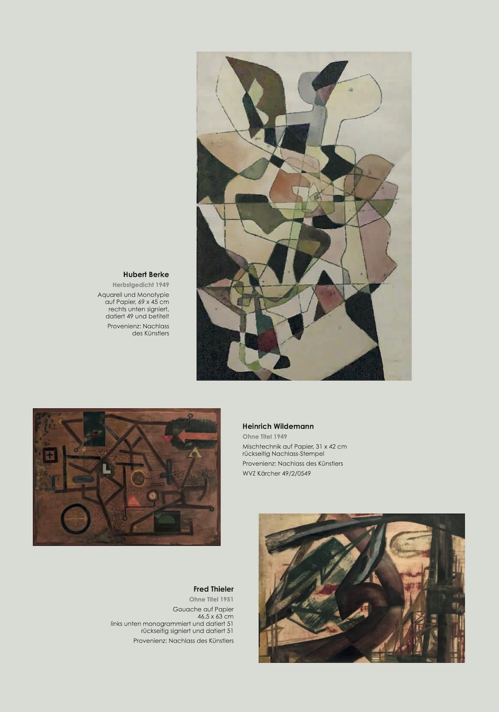 Einladungskarte Ausstellung Abstrakte Welten II 2020/2021 Galerie Maulberger 03