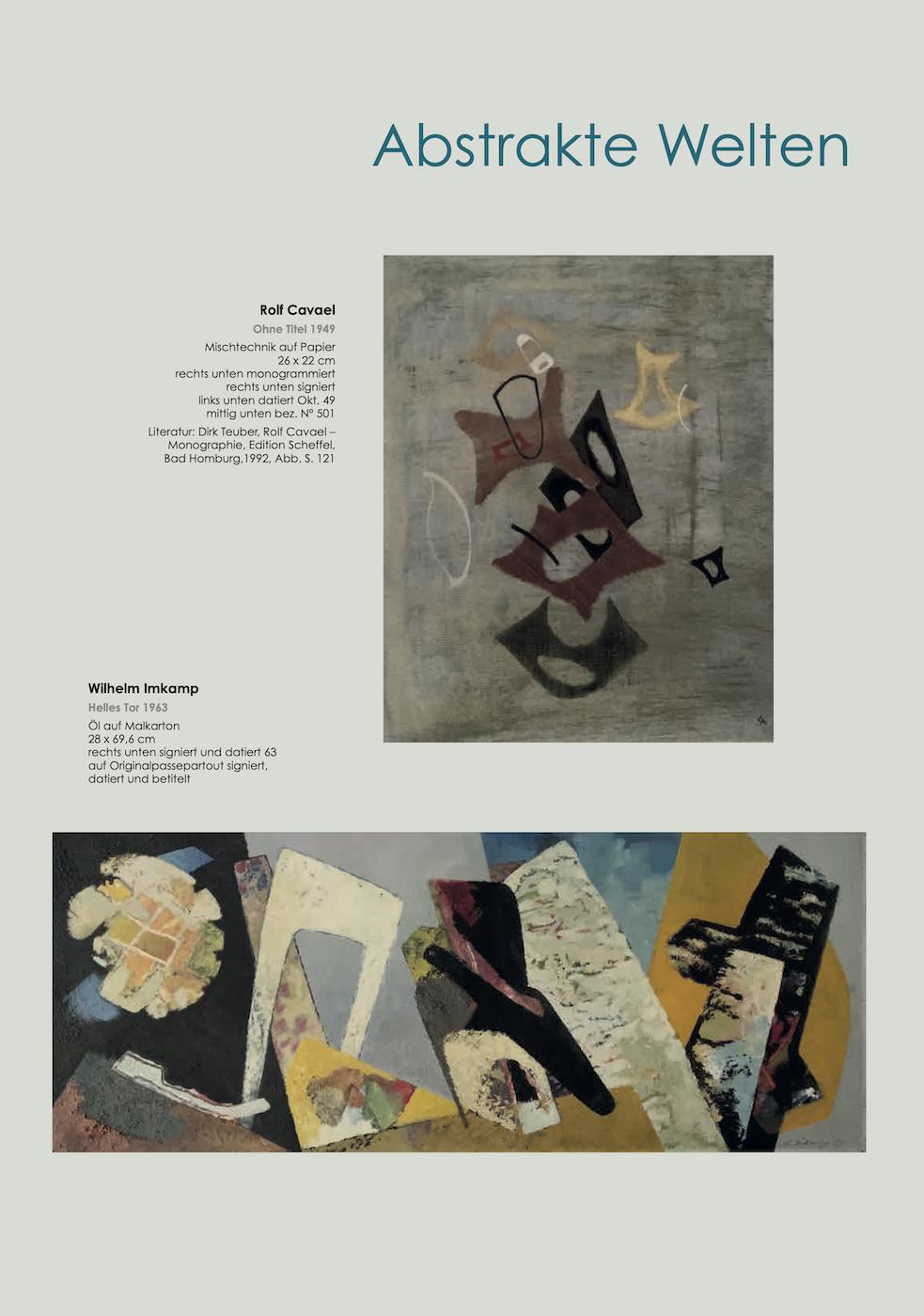 Einladungskarte Ausstellung Abstrakte Welten II 2020/2021 Galerie Maulberger 04