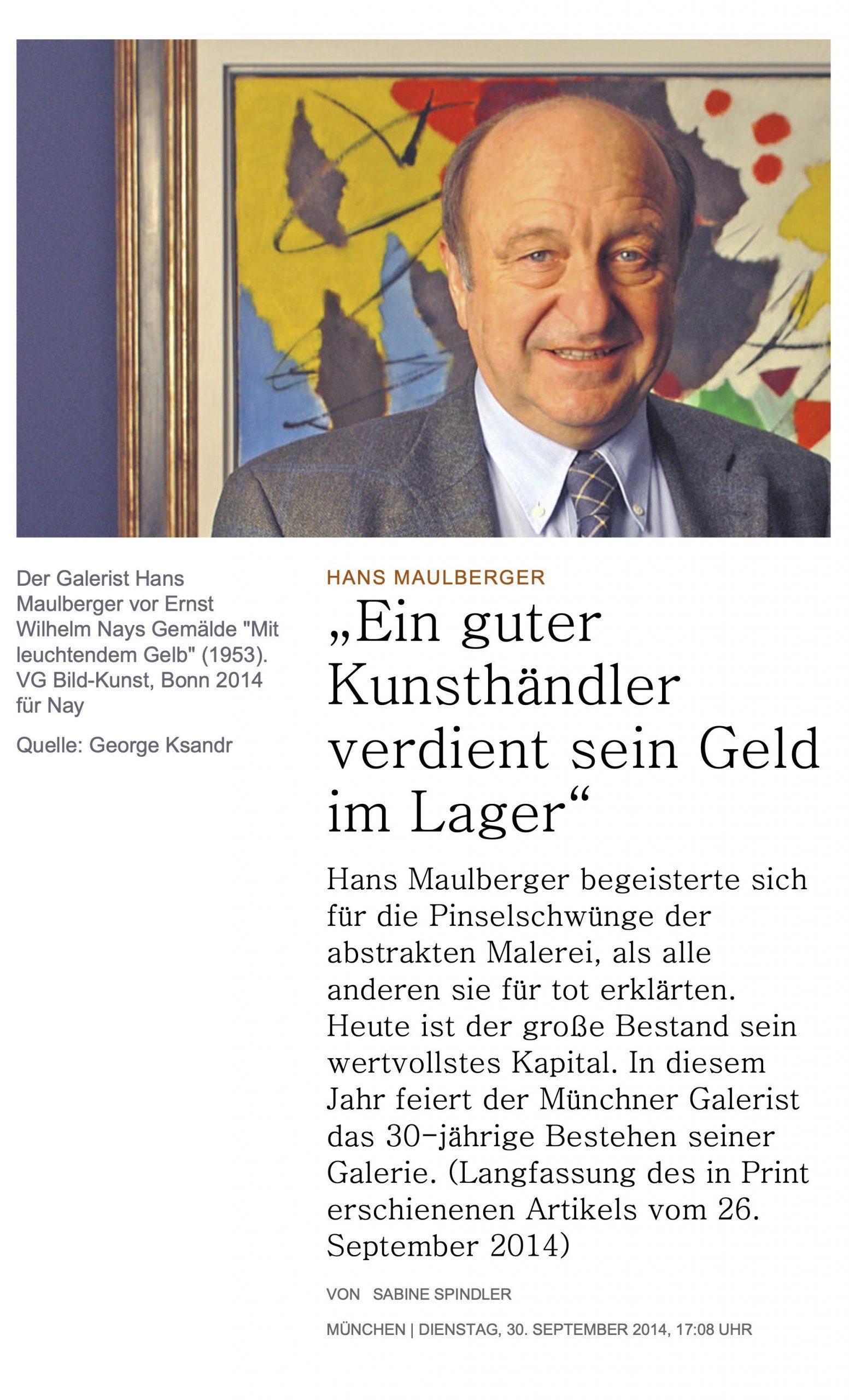 Presse Galerie Maulberger Handelsblatt 2014 01