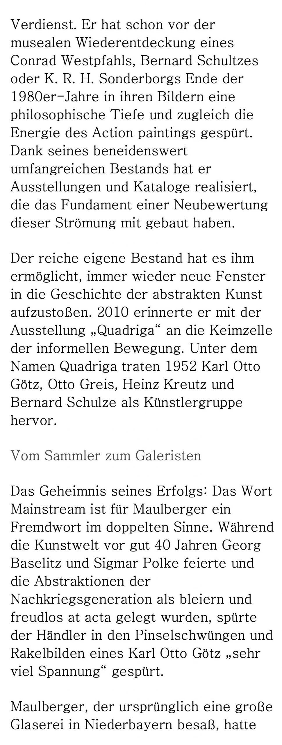 Presse Galerie Maulberger Handelsblatt 2014 03