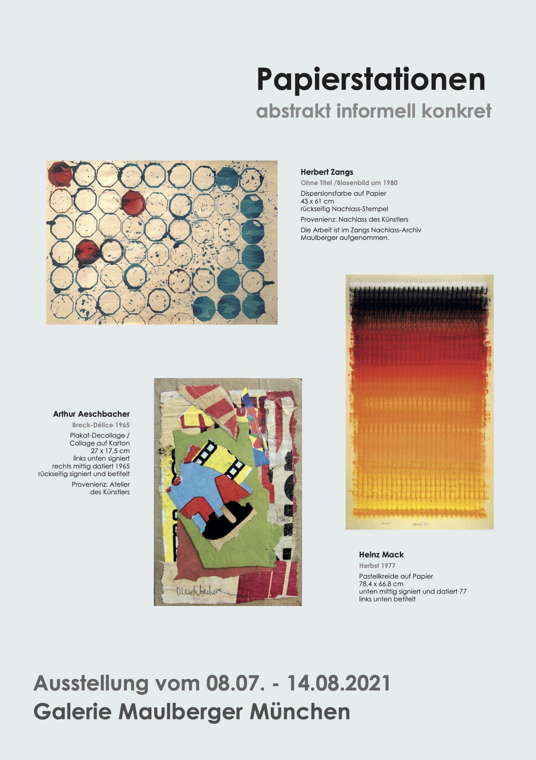 Ausstellung Papierstationen 2021 Galerie Maulberger 01