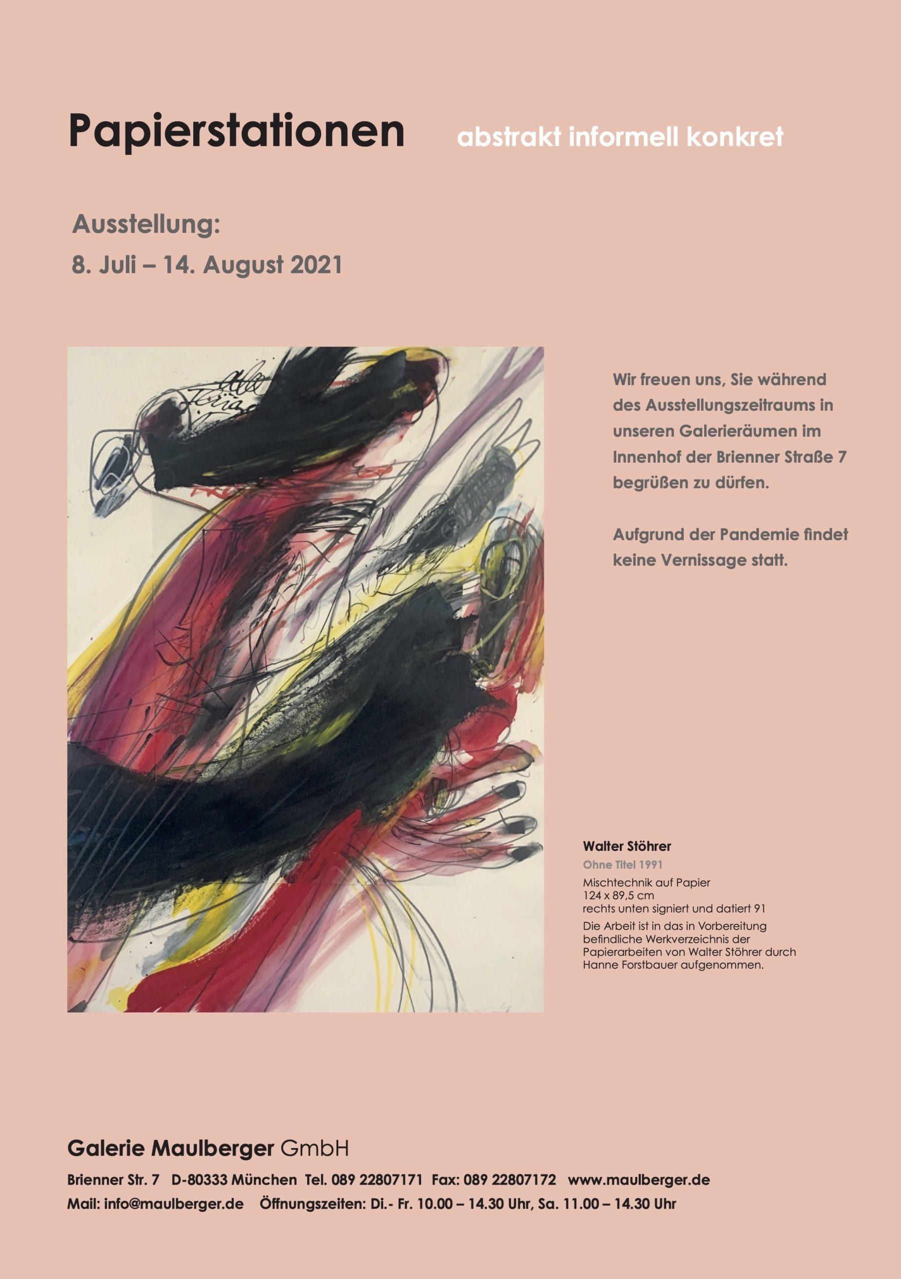 Ausstellung Papierstationen 2021 Galerie Maulberger 06