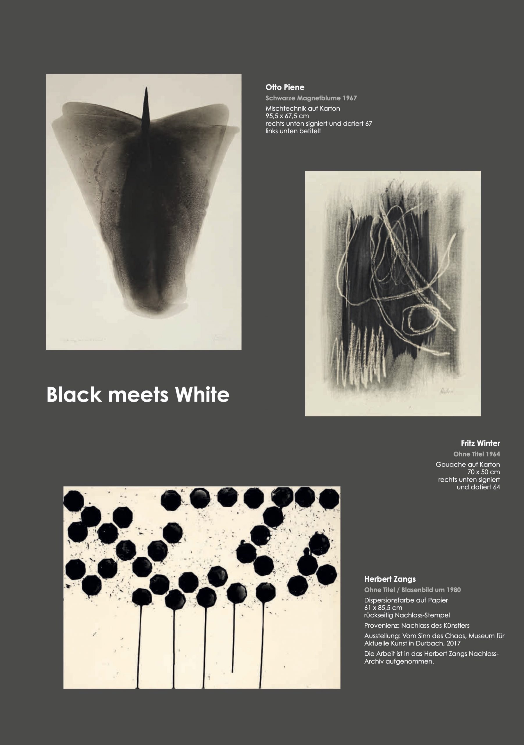 Ausstellung Black meets White 2021 Galerie Maulberger 02